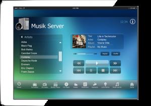 RTI Tablet MusicServer