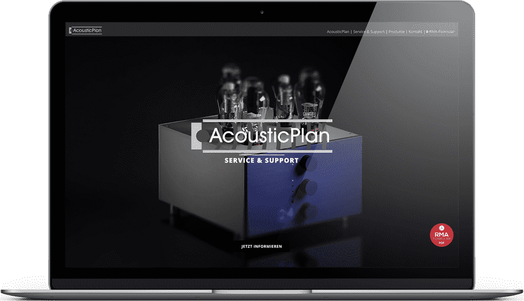 Unsere AcousticPlan Service Webseite
