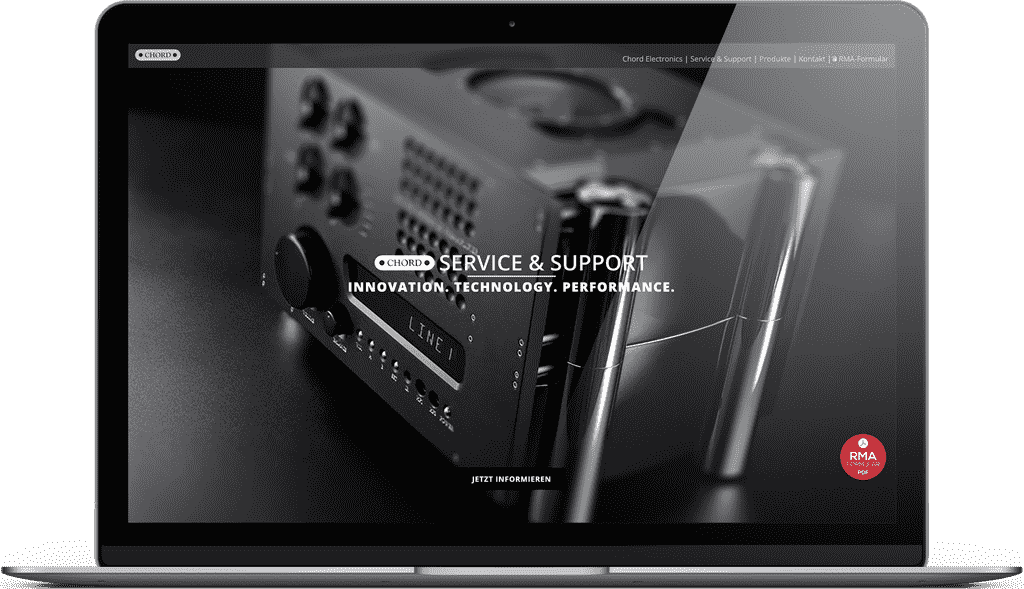 Unsere Chord Service Webseite