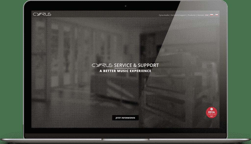 Unsere Cyrus Service Webseite