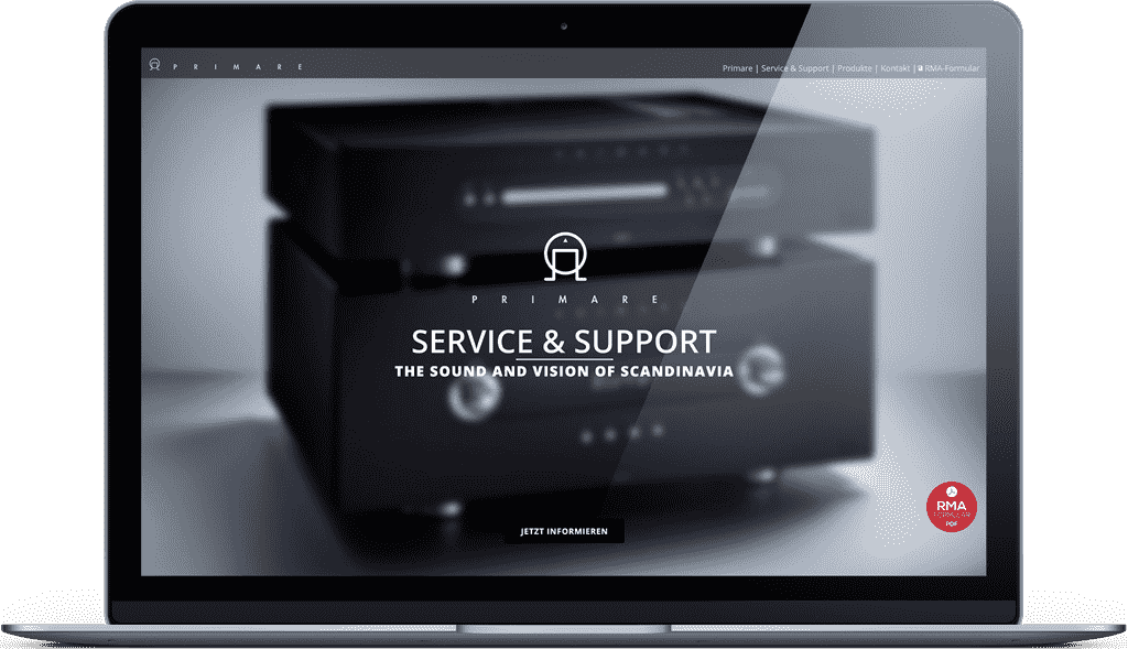 Unsere Primare Service Webseite