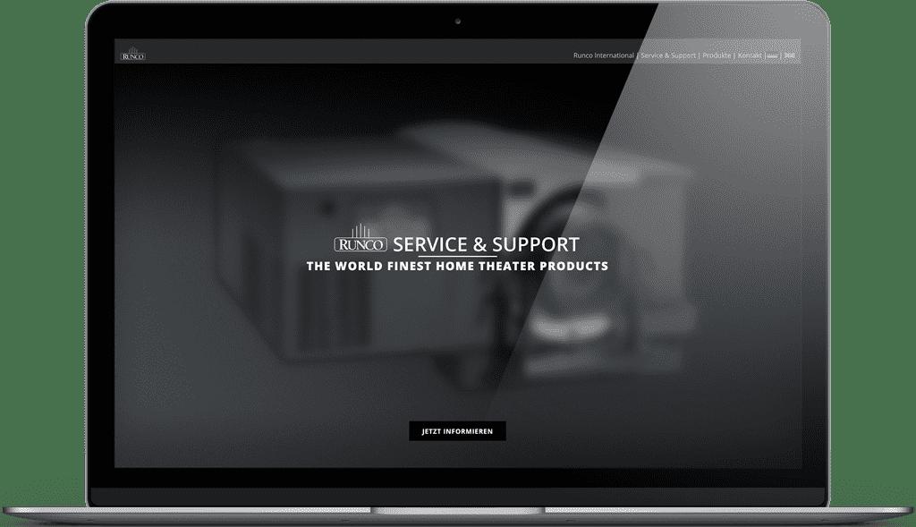 Unsere Runco Service Webseite
